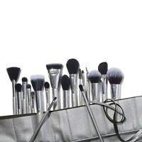 E.L.F 19  Piece Ultimate Face Brush Set Roll Silver highlighting Blending ELF