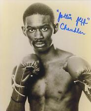 Jeff Chandler signed b&w boxing photo