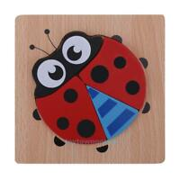 3D Cartoon Puzzle Educational Wooden Toys Jigsaw Children Kids Learning Toy Gift