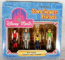 """New Disney Magic Town Square Friends Tour Guide Engineer 2 Tourists 2 1/4"""" High"""
