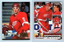 Nicklas Lidstrom - Red Wings #62 Fleer Ultra 1994-5 Ice Hockey Trading Card