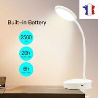 Lampe de Table Tactile LED Pince Lecture Bureau Veilleuse USB Rechargeable 45 Cm