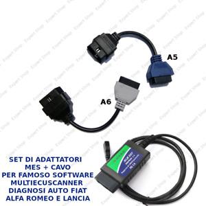 SET ADATTATORI A5 A6 MES CAVO OBD PER SOFTWARE FIAT SCANNER MULTIECUSCANNER