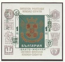 Bulgaria Olympische Spiele Olympic Games 1972 block with green overprint MNH