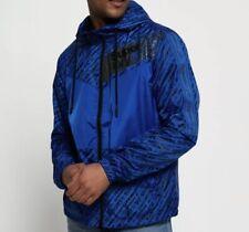 Superdry Men's Ollie Core Cagoule Jacket, Multicolour Blue Size L