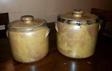 Set of 2 McCoy Pottery Medium Cookie Jar & Small Bean Jar  # 1420