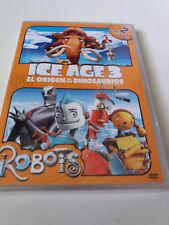 """DVD """"ICE AGE 3 EL ORIGEN DE LOS DIOSAURIOS / ROBOTS"""" 2DVD PRECINTADO SEALED"""