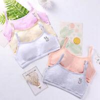 Kids Girls Soft Bra Cotton Training Cartoon Print Seamless Underwear Bra Summer