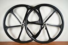 "26"" Wheels Black Set Of 2 Mag Wheels Teny Cassette OG Skyway Style"
