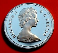 PROOF FROSTED MIRROR COIN NEAR PERFECT 1981 Canada 50 Cents Mintage of 199,000