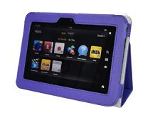 Genuine Leather Stand Pouch Case Cover For Amazon Kindle Fire HD 7 Tablet PUR 03