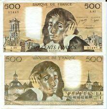 500 FRANCS PASCAL du 3-11-1977    A. 85