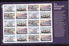 2011 #4548-51 US Merchant Marine MNH Full pane of 20 Ships