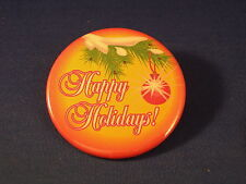 HAPPY HOLIDAYS! LOT of 5 BUTTONS pins badge XMAS 2 1/4""