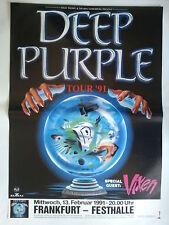 Deep PURPLE 1991 ORIG. concert poster-POSTER TOUR 84 x 60 cm