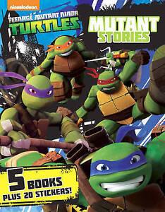 TEENAGE MUTANT NINJA TURTLES STORIES TMNT NICKELODEON 5 BOOK BOX SET PARRAGON!!!