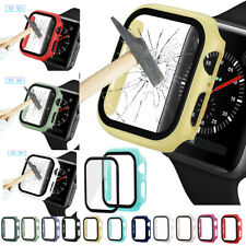 For Apple Watch Serie 5/4/3/2 Slim Bumper Case Cover Screen Protector Film Glass