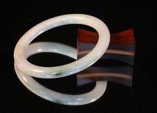 52.67mm Natural Jadeite Jade Bangle Bracelet - Translucent White and Green C28