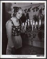 SONJA HENIE at candelabra HAPPY LANDING 1937 Vintage Orig Photo date stamped