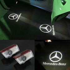 Pair LED car Door Courtesy  Ghost Shadow  Logo Lights For Mercedes Benz E B C ML