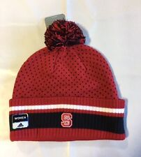 NC State Wolfpack ADIDAS Knit Beanie Toque Skull CapWinter Hat NEW Red Cuffed