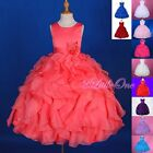 Scoop Dress Up Wedding Flower Girl Pageant Party Formal Occasion Size 4-12 FG234