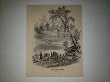 Rum River Minnesota Ferry 1863 Hw Sketch Print Rare!
