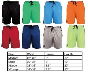 Mens New Under Armour Two Tone Athletic Gym Muscle  Basketball Shorts M-2XL