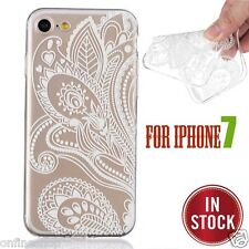 C-H-E-A-P!!!Grass Flower Pattern Clear Hard Case Cover Skin For iphone 7 4.7Inch