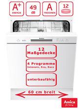 Geschirrspüler 60cm unterbaufähig Spülmaschine Weiß A+ 12 Maßgedecke