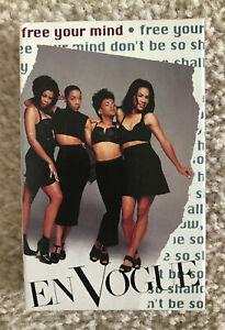 Vtg En Vogue Free Your Mind Cassette Single 1992 90s EUC Eastwest Records Tested
