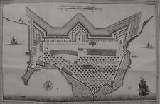 PLAN DE LA FORTERESSE DE COYLAN, BELLIN, 1761, FORT KOLLAM INDES