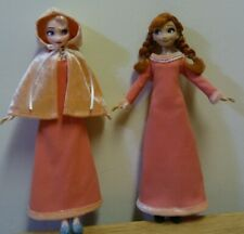 "11"" Doll Clothing Elsa /Anna Peach Dress and Cape"