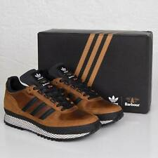 Adidas X Barbour TS Runner Leather Trainers Genuine Shoes Rare DEADSTOCK UK