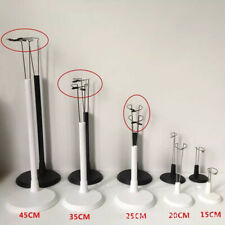1Pc Stainless Steel Black Whit Doll Display Stand Holder Doll House Diy