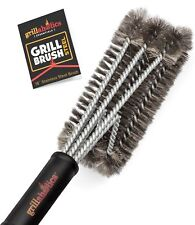 Grillaholics Heavy Duty Stainless Steel BBQ Grill Brush - TRIPLE SAFETY TESTED!!