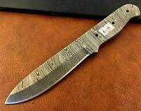 Handmade Pattern Welded Damascus Steel Blade Blank-Leather Cutter Blank-LB8