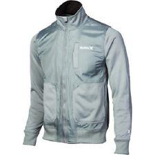 Men's Hurley Altitude Track Full Zip Jacket MIdweight Fleece Concrete Grey 2XL