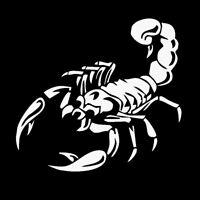 Skorpion Auto Aufkleber Motorrad Sticker Sternbild groß die cut Krebs Weiß