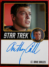 STAR TREK TOS 50th, ANTHONY CALL as Dave Bailey, LIMITED EDITION Autograph Card