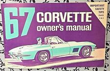 1967 Corvette Original Owners Manual 2nd Edition FULL Card OEM GM P/N 3901022 A+
