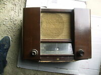 radio  tsf en bois vintage 1930 radio sadir A351