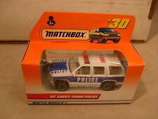 1997 MATCHBOX SUPERFAST #30 97 CHEVY TAHOE POLICE CAR NEW MIB