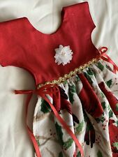 Apron Towel Dress Oven Door Red Holiday Christmas Cardinals Gold Trim Holly