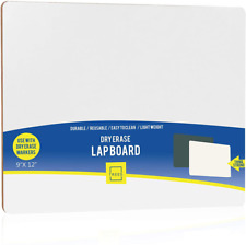 Small Dry Erase White Board Wipe Off Blank Lapboard Portable 9×12 Inch Single S