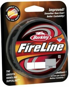 Berkley Fireline Fused Superline Braided Line Smoke/Crystal [100,125,300,1500yd]