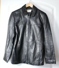 WILSONS LEATHER PELLE STUDIO LAMB LEATHER COAT SIZE SMALL