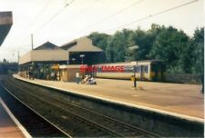 PHOTO  1992 OXENHOLME RAILWAY STATION WINDERMERE BRANCH SHUTTLE TRAIN AT FAR PLA