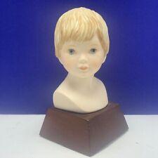 Frances Hook Roman figurine bust statue Youth limited edition sculpture boy vtg