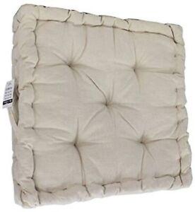 """Armchair Booster Cushion, Cream, Size 45 x 45 x 10 cms, 18"""" x 18"""" x 4"""""""
